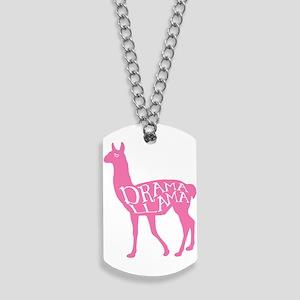 Pink Drama Llama Dog Tags