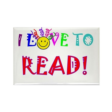 Love to Read Rectangle Magnet