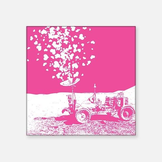 "lunar-rover-love-pink.gif Square Sticker 3"" x 3"""