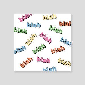 """blah-blah_tr Square Sticker 3"""" x 3"""""""