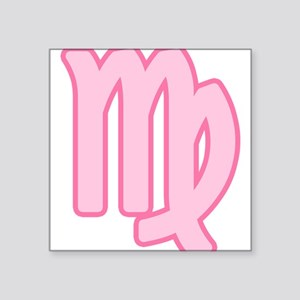 "pink-zodiac-virgo Square Sticker 3"" x 3"""