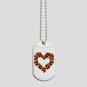 strawberry-heart Dog Tags