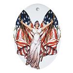 vintage-flag-bearer.png Ornament (Oval)