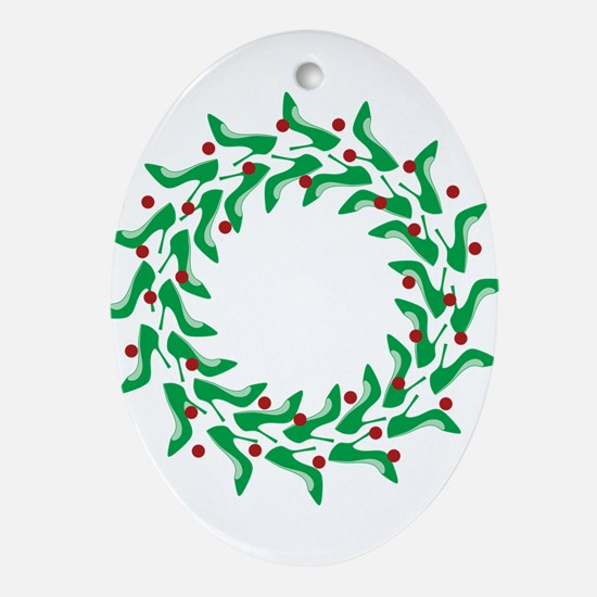 high-heel-wreath.png Ornament (Oval)