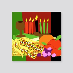 "kwanzaa_card Square Sticker 3"" x 3"""
