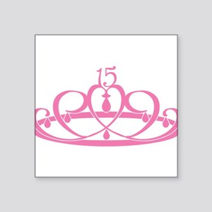 "15-crown Square Sticker 3"" x 3"""