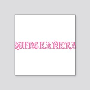 "quinceanera-orn Square Sticker 3"" x 3"""