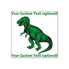 CUSTOM TEXT T-Rex Square Sticker 3