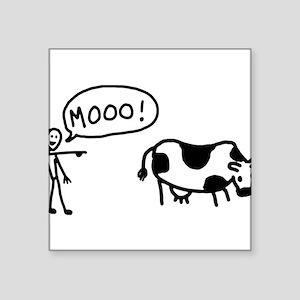 "moo-cow Square Sticker 3"" x 3"""