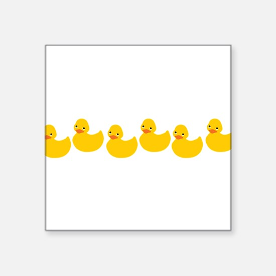 """ducky-row-new.png Square Sticker 3"""" x 3"""""""