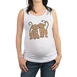 monkey-couple.png Maternity Tank Top
