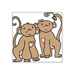 monkey-couple.png Square Sticker 3