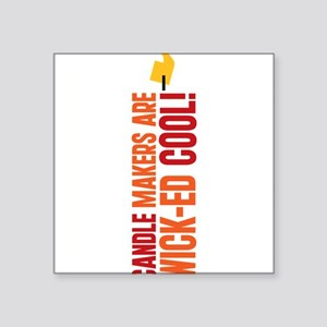 """CANDLE-COOL_TR Square Sticker 3"""" x 3"""""""