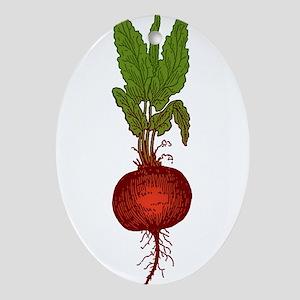 beet-3 Ornament (Oval)