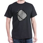 My Son is a Soldier dog tag Dark T-Shirt