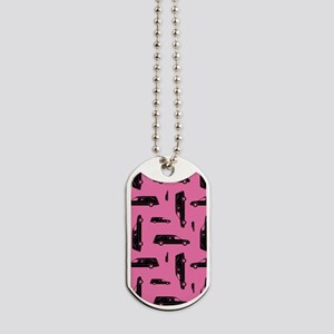 Pink Hearse Pattern Dog Tags