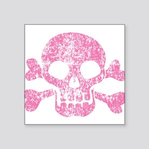"skull-worn_pk Square Sticker 3"" x 3"""