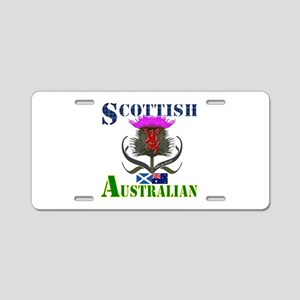 Scottish Australian Thistle Aluminum License Plate