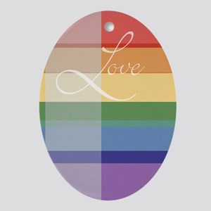 gay_wedding_mod Ornament (Oval)