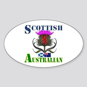 Scottish Australian Thistle Sticker (Oval)