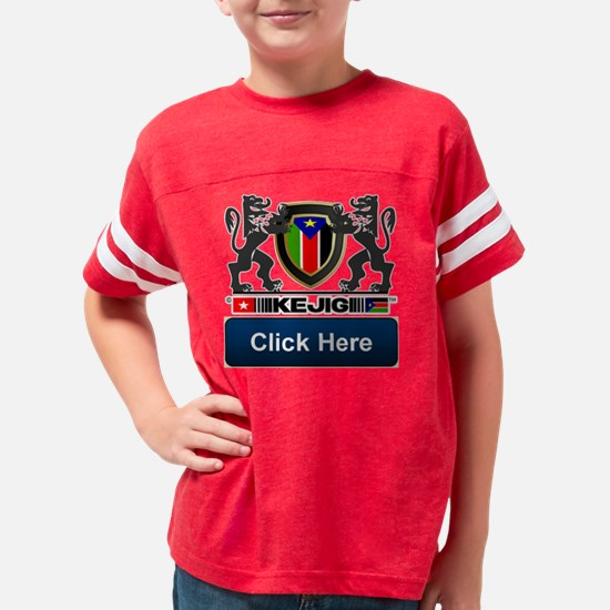 Kejig Lion Flag Frame header  Youth Football Shirt