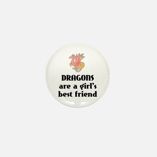 Dragon Girl Mini Button