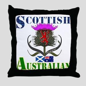 Scottish Australian Thistle Throw Pillow