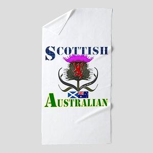 Scottish Australian Thistle Beach Towel