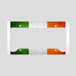 antiqued Irish flag License Plate Holder