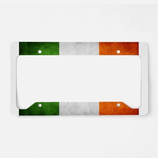 antiqued Irish flag License Plate Holder