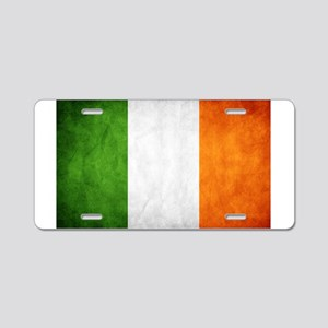 antiqued Irish flag Aluminum License Plate