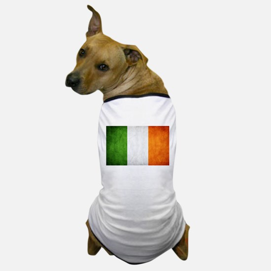 antiqued Irish flag Dog T-Shirt