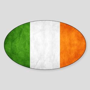 antiqued Irish flag Sticker