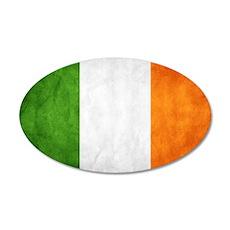 antiqued Irish flag Wall Decal