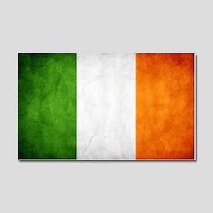 antiqued Irish flag Car Magnet 20 x 12