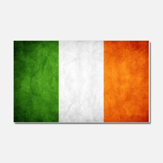 antiqued Irish flag Car Magnet 20 x 12