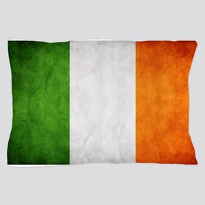 antiqued Irish flag Pillow Case