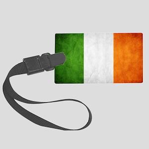 antiqued Irish flag Luggage Tag
