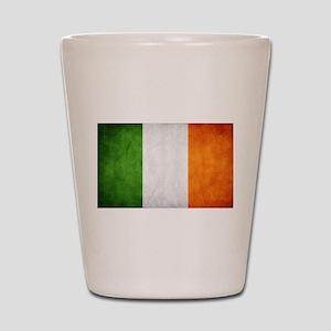antiqued Irish flag Shot Glass