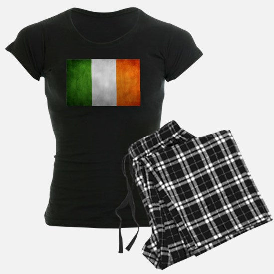 antiqued Irish flag Pajamas