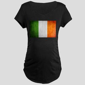antiqued Irish flag Maternity T-Shirt