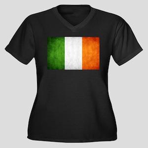 antiqued Irish flag Plus Size T-Shirt