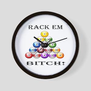 Rack Em Bitch Wall Clock