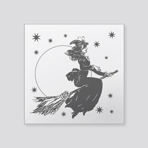 "old-fashioned-witch_wh Square Sticker 3"" x 3"""