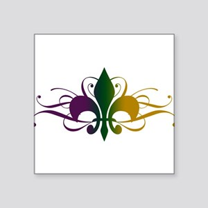 "fleur-de-lis-swirls_color Square Sticker 3"" x"