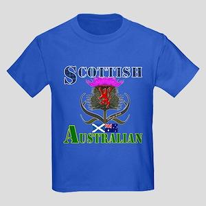 Scottish Australian Thistle Kids Dark T-Shirt