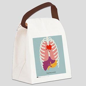 Hugs Keep Us Alive Canvas Lunch Bag
