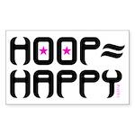 HOOP=HAPPY Sticker (Rectangle)