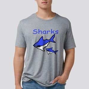 Sharks Mens Tri-blend T-Shirt