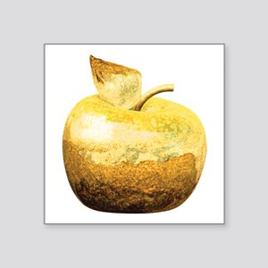 "golden_apple_2 Square Sticker 3"" x 3"""